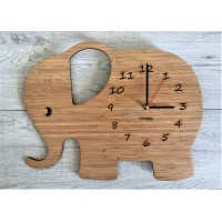 Bamboo - Elephant Wall Clock