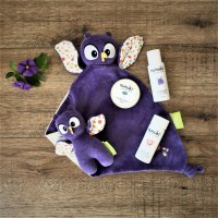 Gift Set - Owl Comforter, Owl Squeaker and Nunuki Products