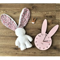 Gift Set - Lily 'n Jack, Bunny Keyring and Bunny Wall Clock