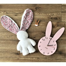 Gift Set - Lily 'n Jack, Bunny Keyring and Bunny Wall Clock