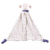 Lila Lamb Rubber-Head Comforter in Blue Scarf