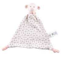 Lila Lamb Rubber-Head Comforter in Pink Scarf