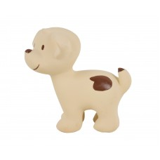 Natural Rubber Puppy Teether/ Bath toy and rattle