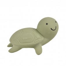 Natural Rubber Turtle Teether/ Bath toy and rattle